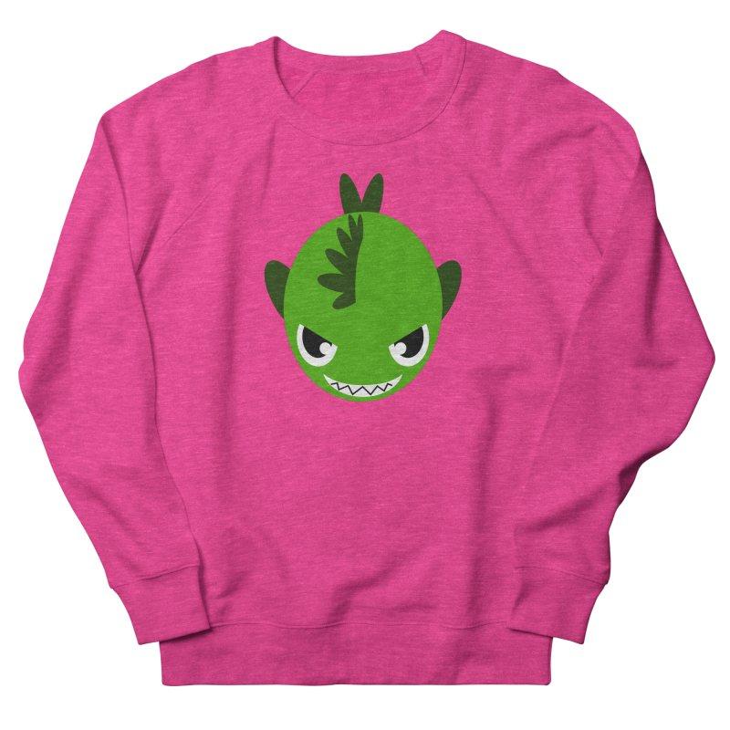 Green piranha Men's French Terry Sweatshirt by Kiemura Merchandise