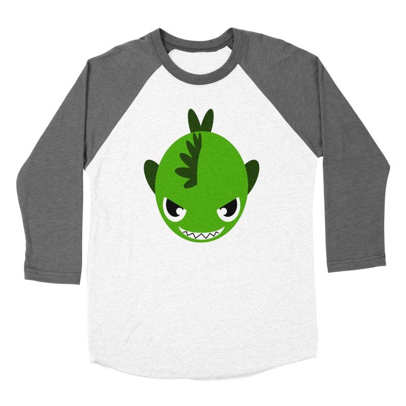 Green piranha Women's Baseball Triblend T-Shirt by Kiemura Merchandise