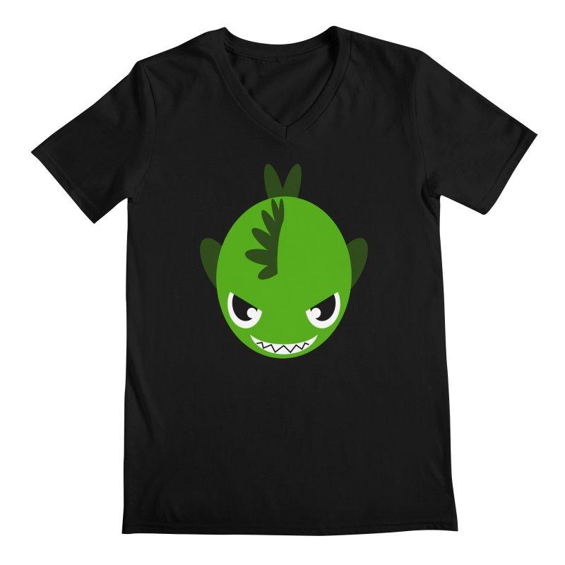 Green piranha Men's Regular V-Neck by Kiemura Merchandise