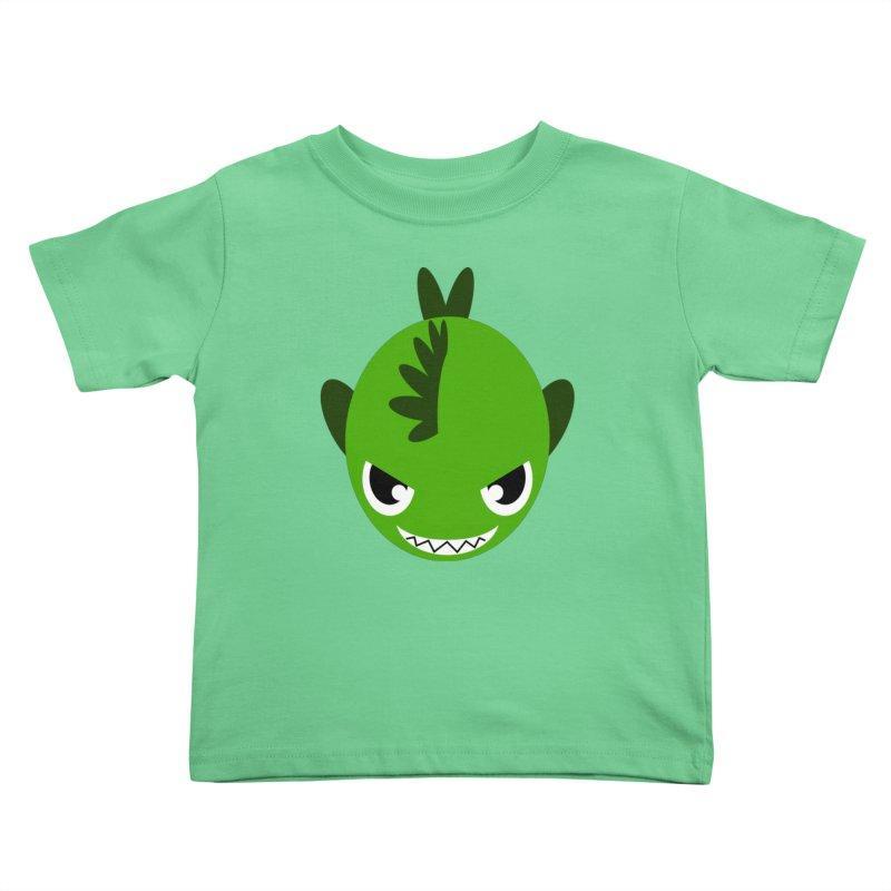 Green piranha Kids Toddler T-Shirt by Kiemura Merchandise