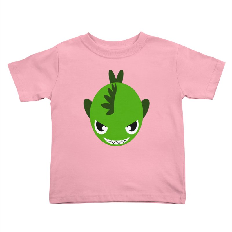 Green piranha Kids Toddler T-Shirt by Kiemura Merchandise