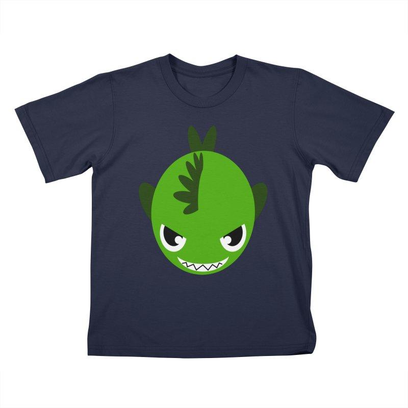 Green piranha Kids T-shirt by Kiemura Merchandise