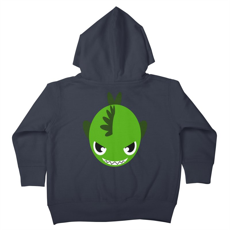 Green piranha Kids Toddler Zip-Up Hoody by Kiemura Merchandise