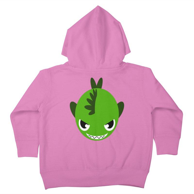Green piranha Kids Toddler Zip-Up Hoody by Kiemura Merchandise