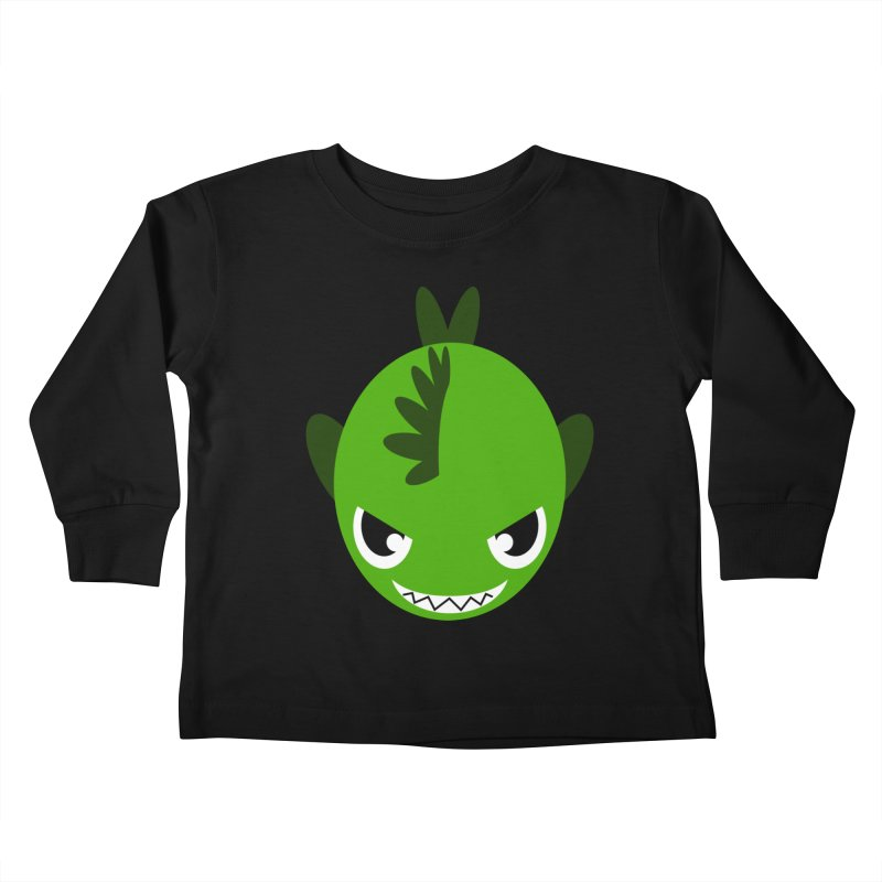 Green piranha Kids Toddler Longsleeve T-Shirt by Kiemura Merchandise