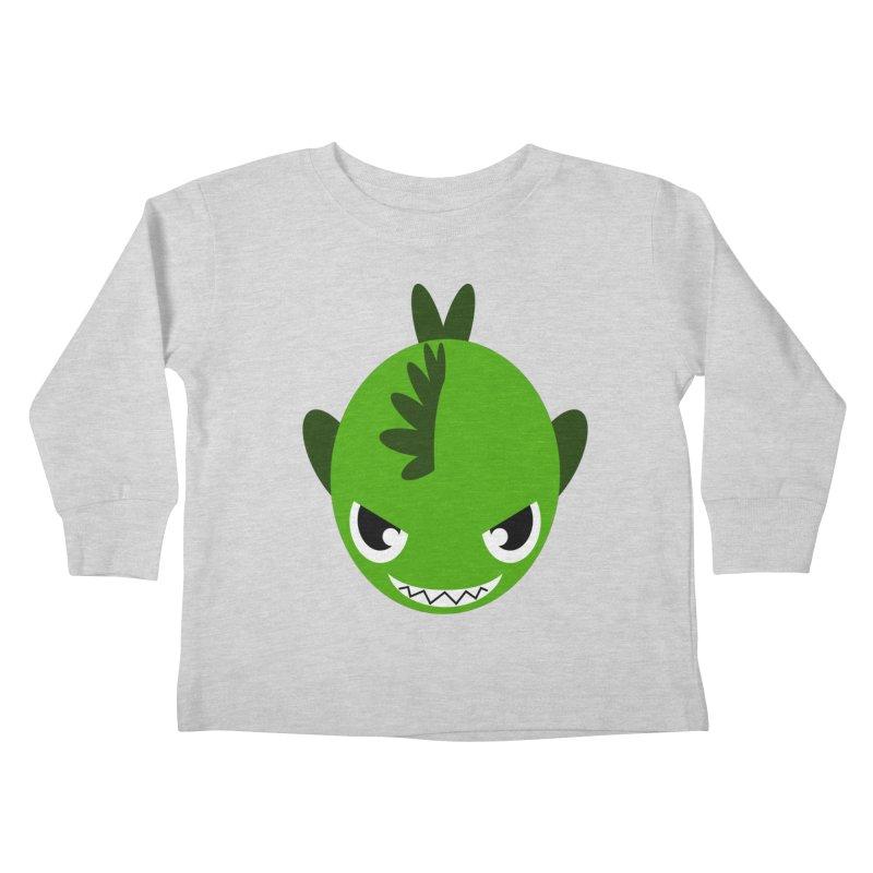 Green piranha Kids Toddler Longsleeve T-Shirt by Kiemura Merchandise