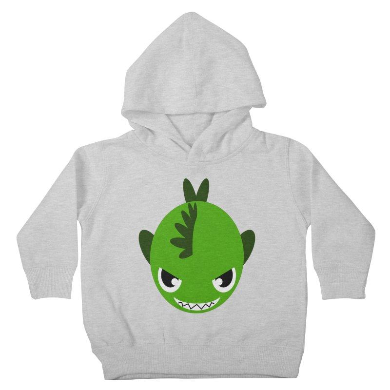 Green piranha Kids Toddler Pullover Hoody by Kiemura Merchandise