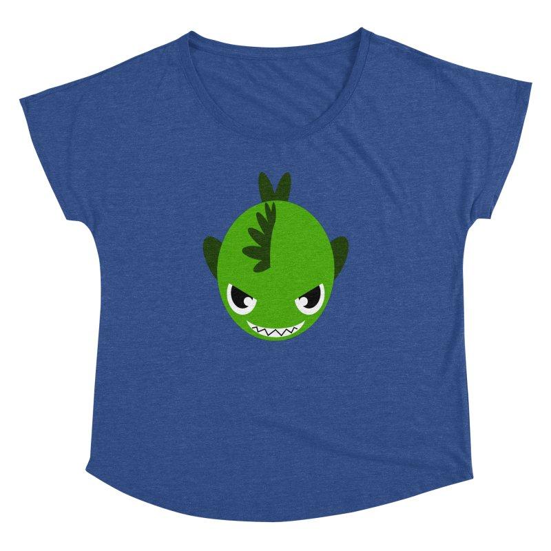 Green piranha Women's Dolman Scoop Neck by Kiemura Merchandise