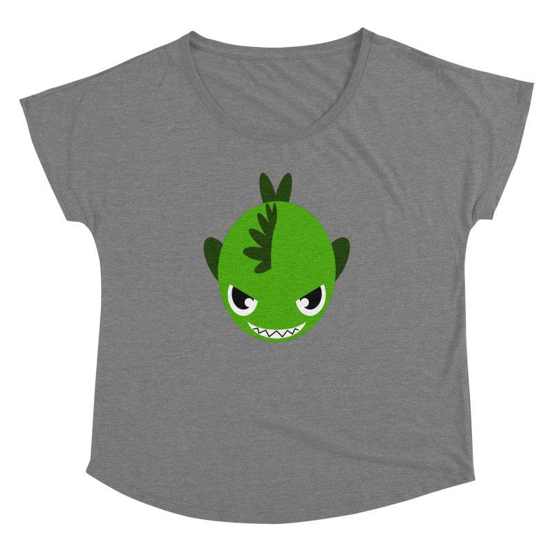 Green piranha Women's Dolman by Kiemura Merchandise