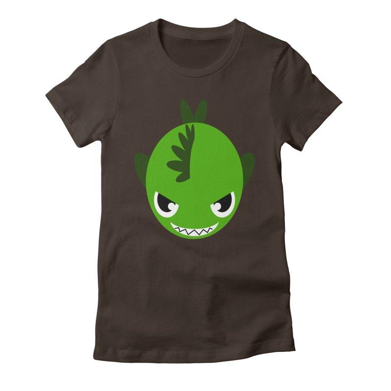 Green piranha Women's Fitted T-Shirt by Kiemura Merchandise