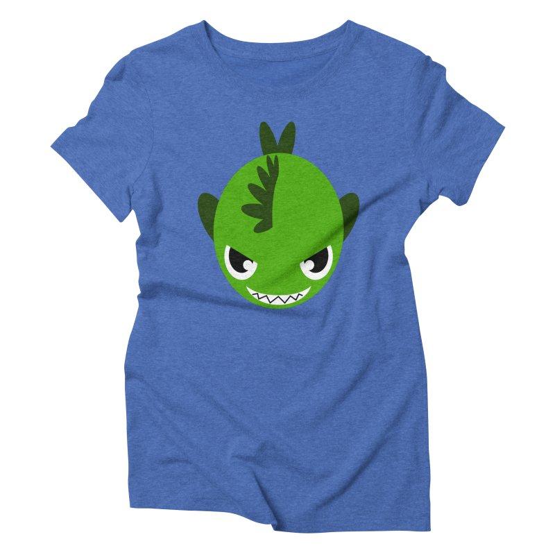 Green piranha Women's Triblend T-Shirt by Kiemura Merchandise