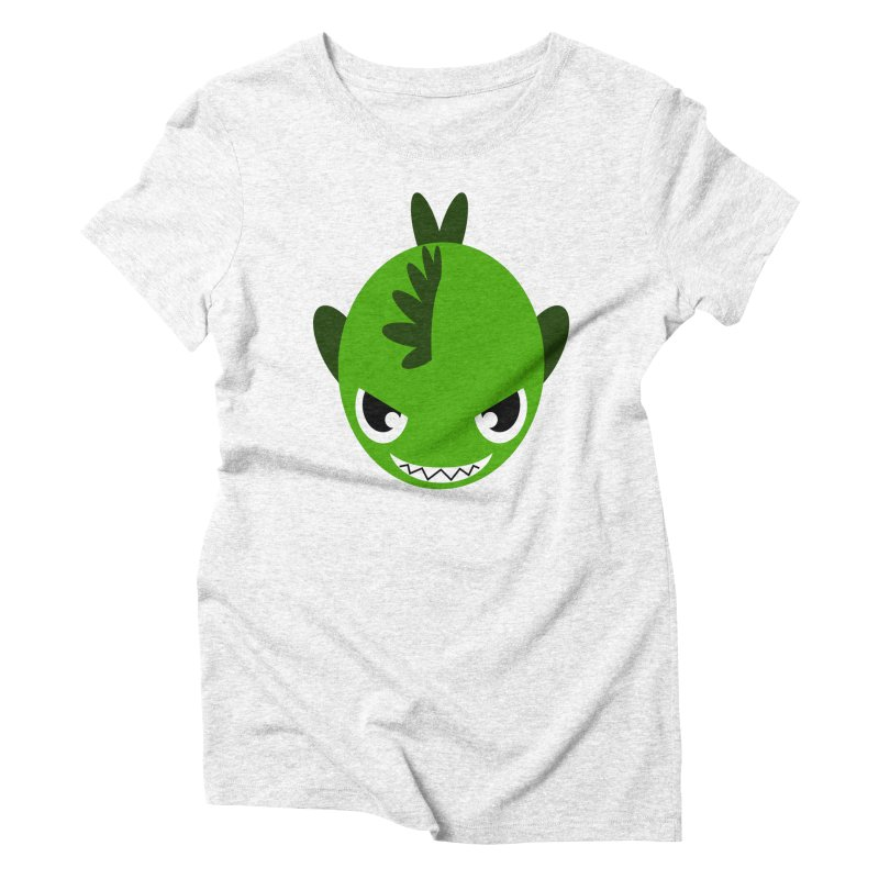 Green piranha Women's Triblend T-shirt by Kiemura Merchandise