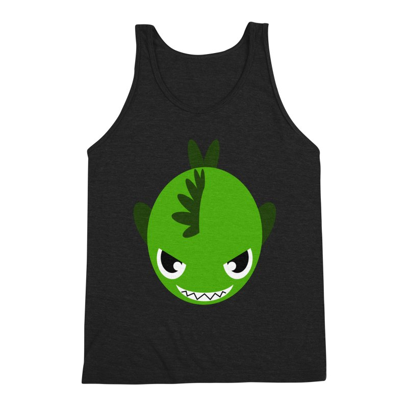 Green piranha Men's Triblend Tank by Kiemura Merchandise