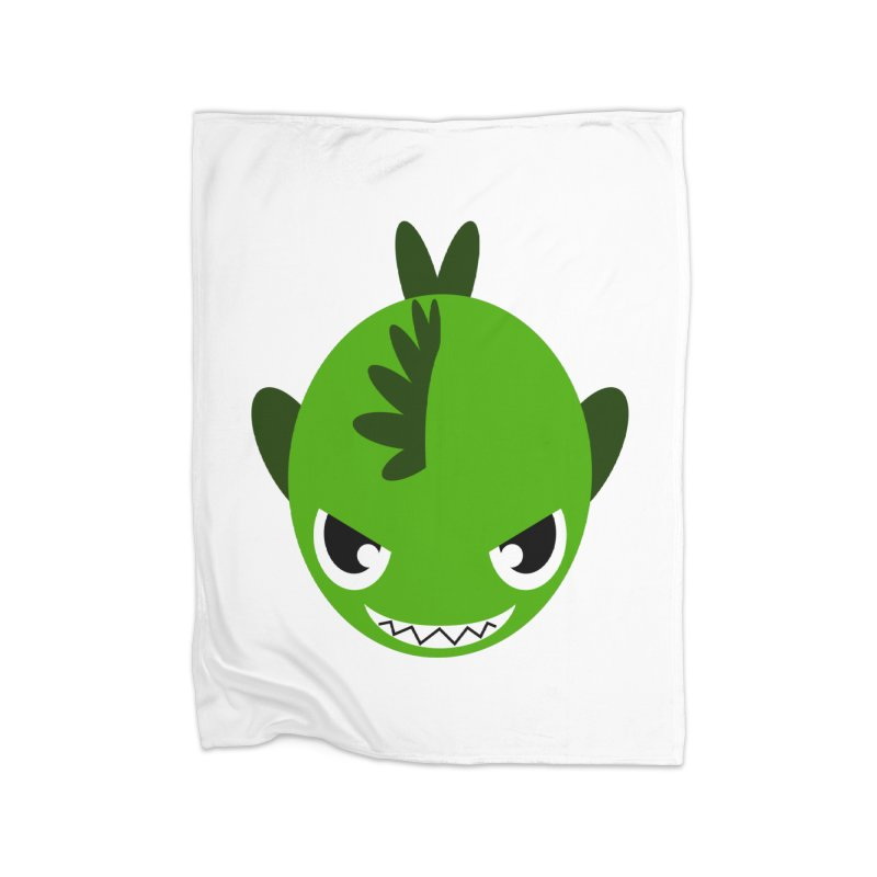 Green piranha Home Blanket by Kiemura Merchandise