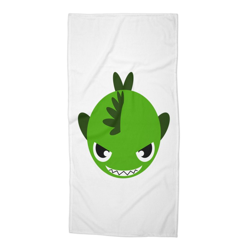 Green piranha Accessories Beach Towel by Kiemura Merchandise