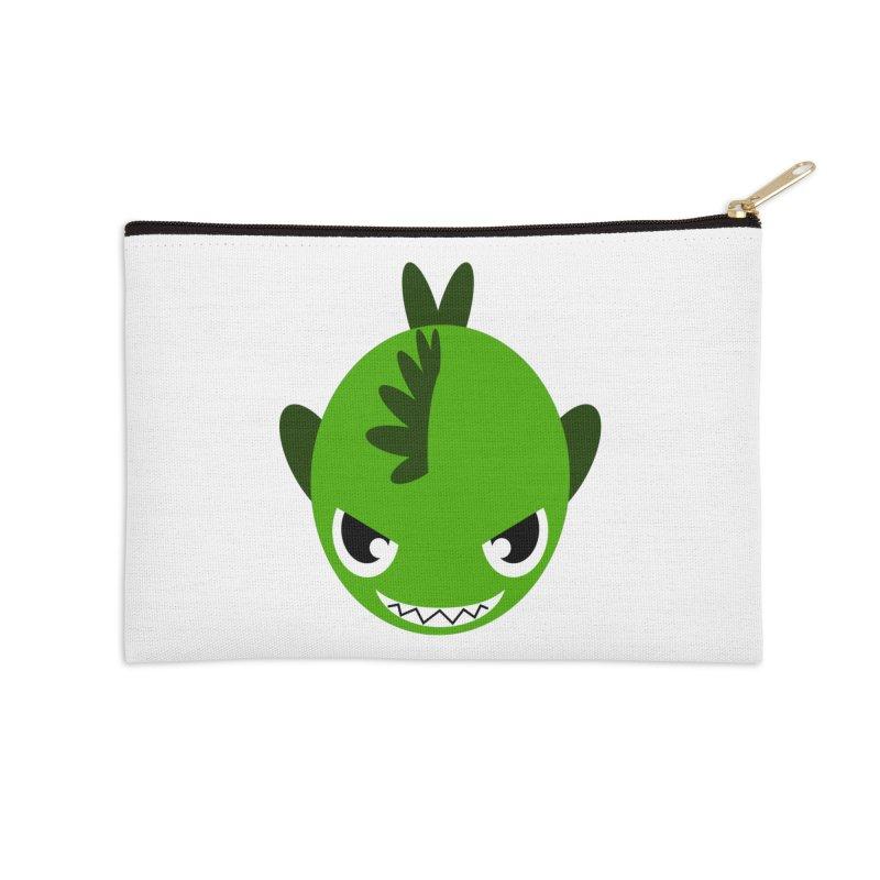 Green piranha Accessories Zip Pouch by Kiemura Merchandise