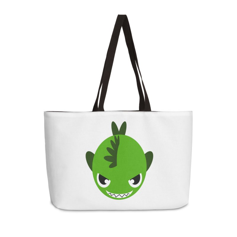 Green piranha Accessories Weekender Bag Bag by Kiemura Merchandise