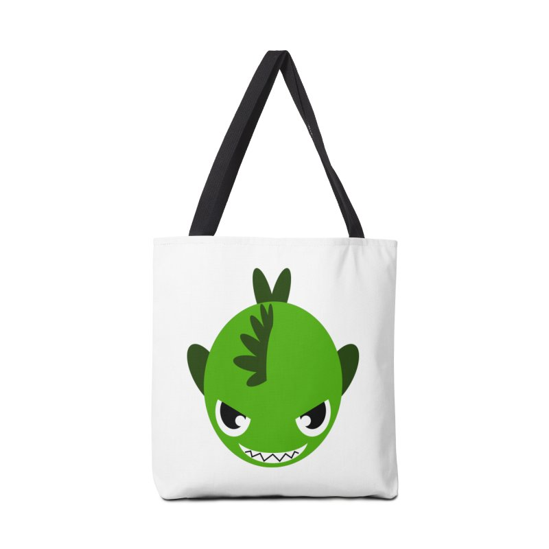 Green piranha Accessories Bag by Kiemura Merchandise