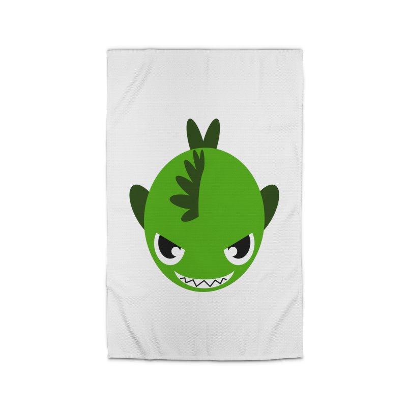 Green piranha Home Rug by Kiemura Merchandise
