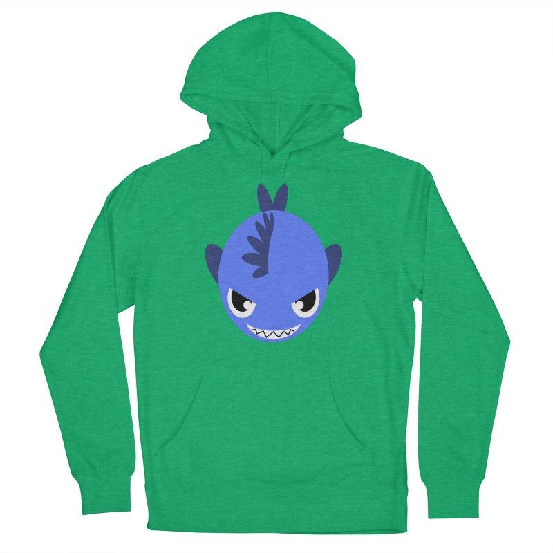 Blue piranha Women's Pullover Hoody by Kiemura Merchandise