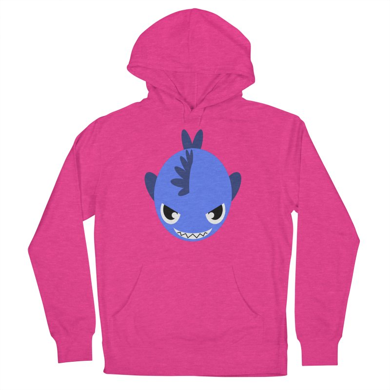 Blue piranha Women's Pullover Hoody by Kiemura Merchandise