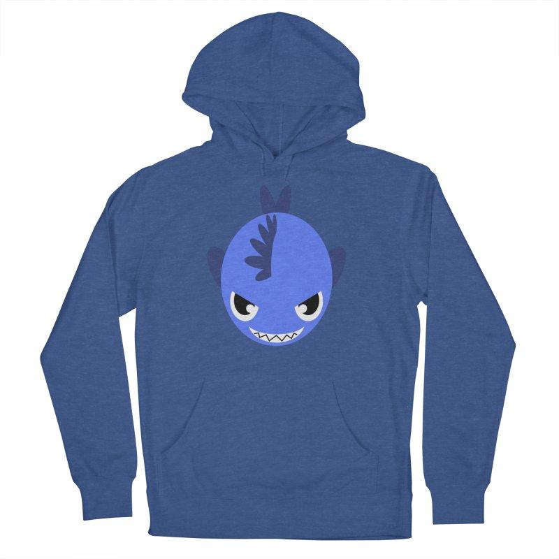 Blue piranha Men's French Terry Pullover Hoody by Kiemura Merchandise