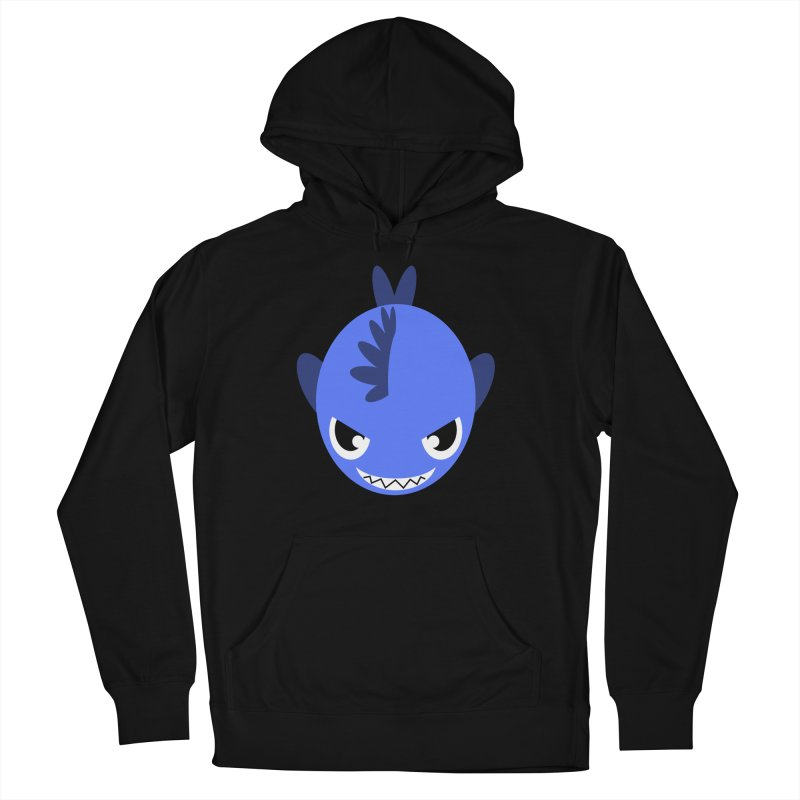 Blue piranha Men's French Terry Pullover Hoody by Kiemura Merchandise