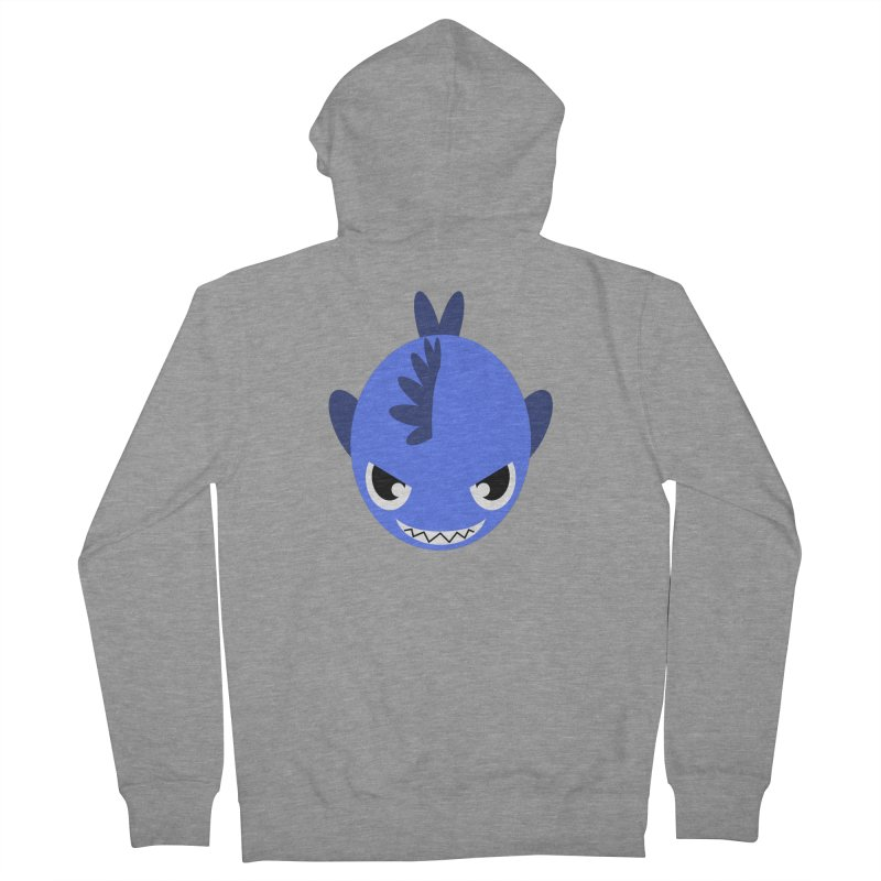 Blue piranha Women's Zip-Up Hoody by Kiemura Merchandise