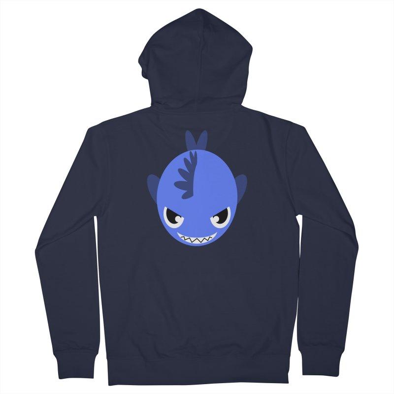 Blue piranha Women's French Terry Zip-Up Hoody by Kiemura Merchandise