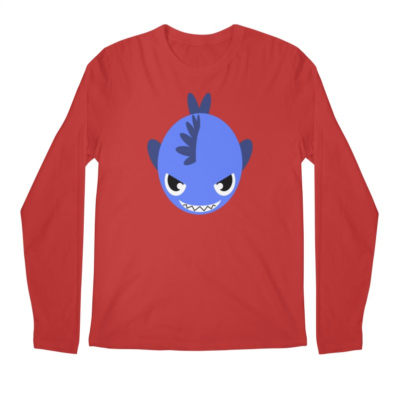 Blue piranha Men's Longsleeve T-Shirt by Kiemura Merchandise