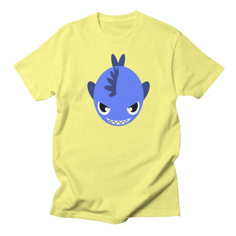 Blue piranha Men's T-shirt by Kiemura Merchandise