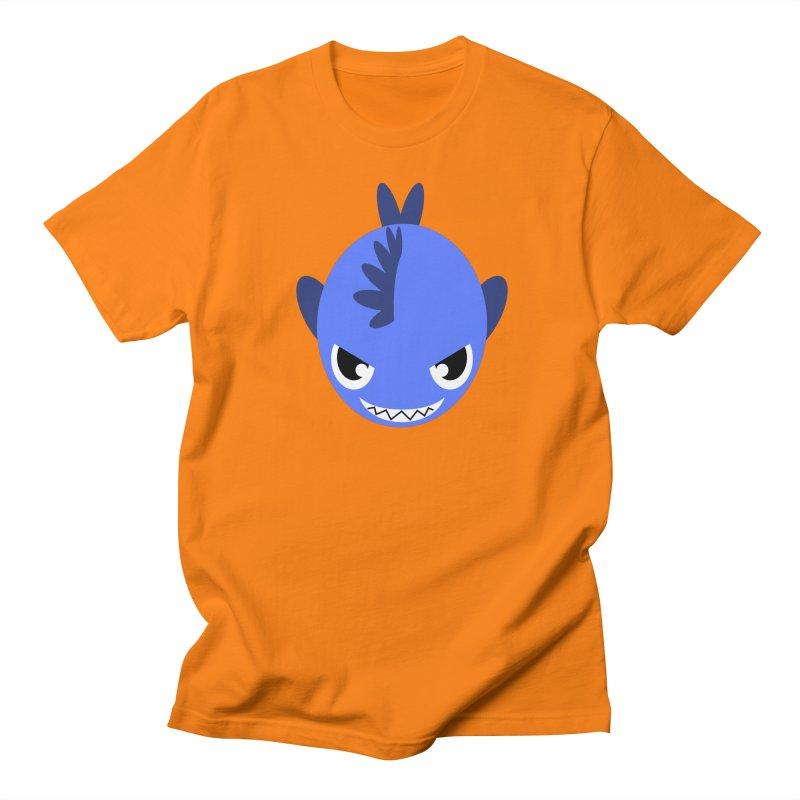 Blue piranha Men's Regular T-Shirt by Kiemura Merchandise