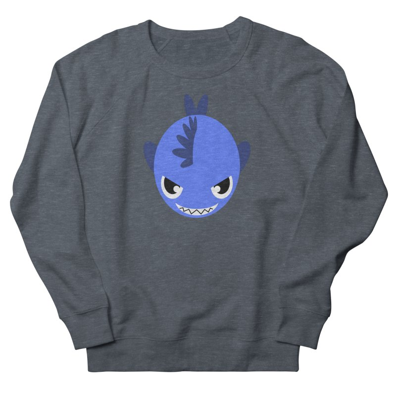 Blue piranha Women's French Terry Sweatshirt by Kiemura Merchandise