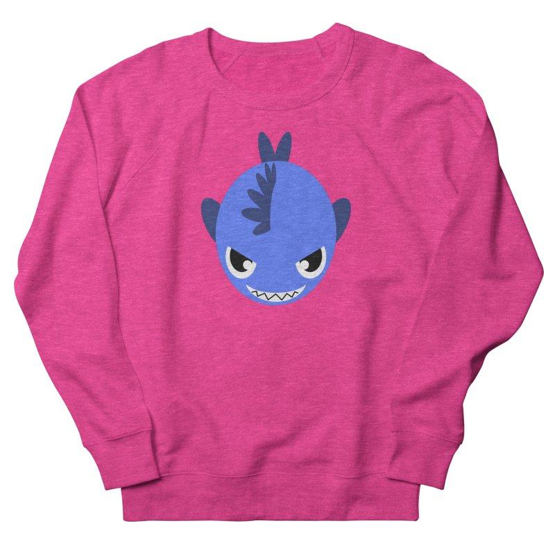 Blue piranha Men's French Terry Sweatshirt by Kiemura Merchandise