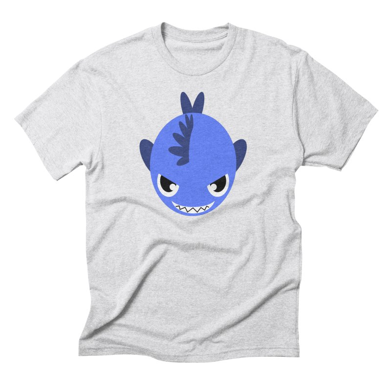 Blue piranha Men's Triblend T-Shirt by Kiemura Merchandise