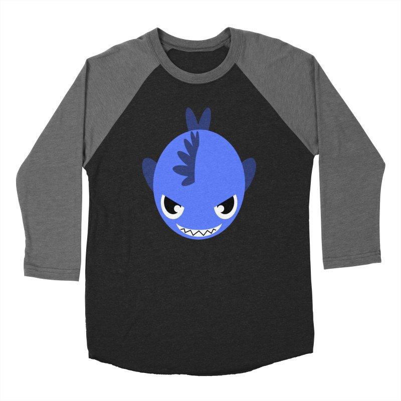 Blue piranha Women's Baseball Triblend T-Shirt by Kiemura Merchandise