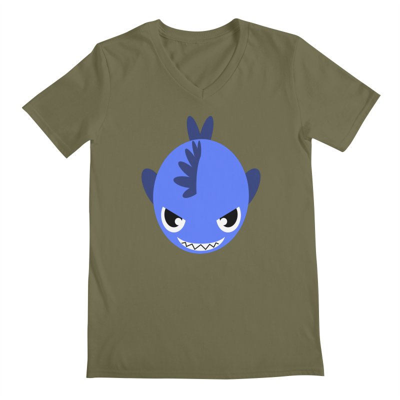 Blue piranha Men's V-Neck by Kiemura Merchandise
