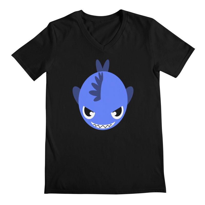Blue piranha Men's Regular V-Neck by Kiemura Merchandise