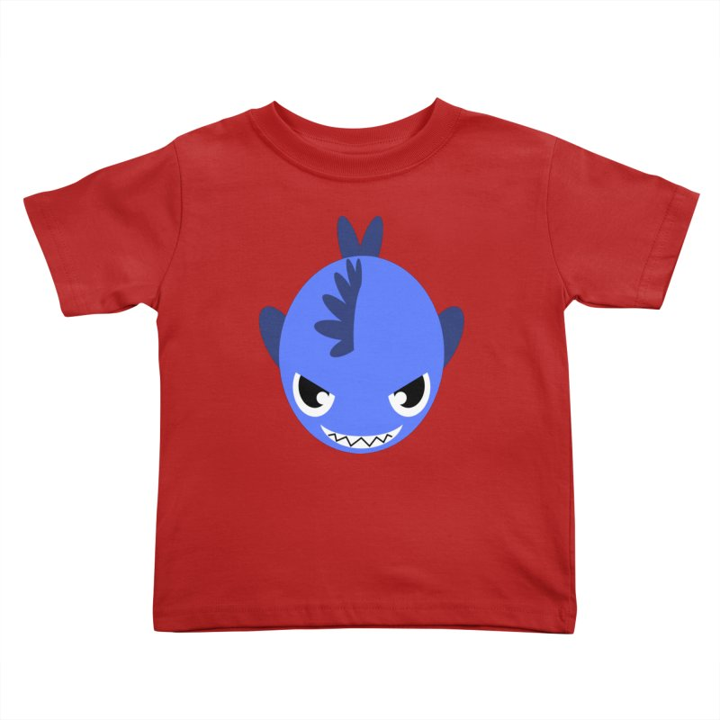 Blue piranha Kids Toddler T-Shirt by Kiemura Merchandise