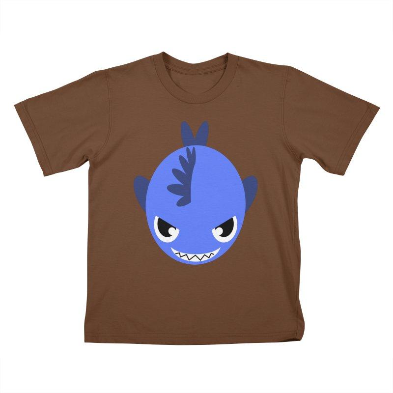 Blue piranha Kids T-shirt by Kiemura Merchandise