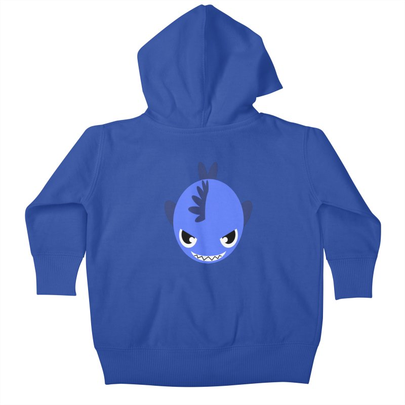 Blue piranha Kids Baby Zip-Up Hoody by Kiemura Merchandise