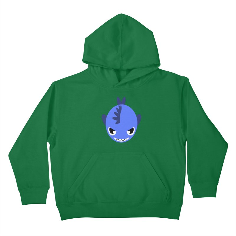 Blue piranha Kids Pullover Hoody by Kiemura Merchandise