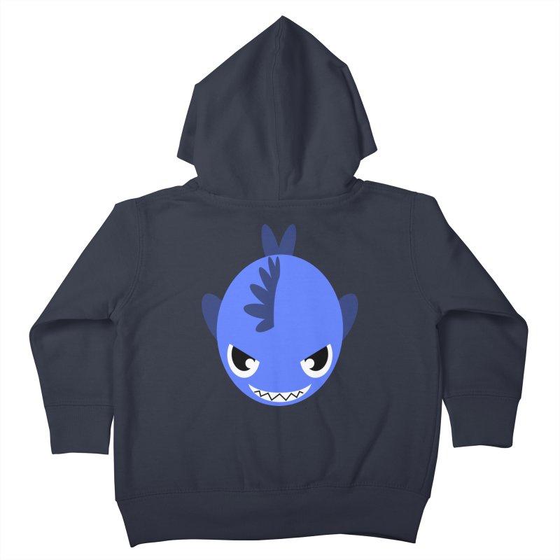 Blue piranha Kids Toddler Zip-Up Hoody by Kiemura Merchandise