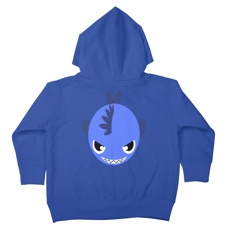Blue piranha Kids Toddler Zip-Up Hoody by Kiemura Merchandise
