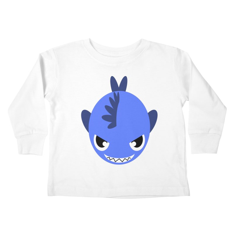 Blue piranha Kids Toddler Longsleeve T-Shirt by Kiemura Merchandise