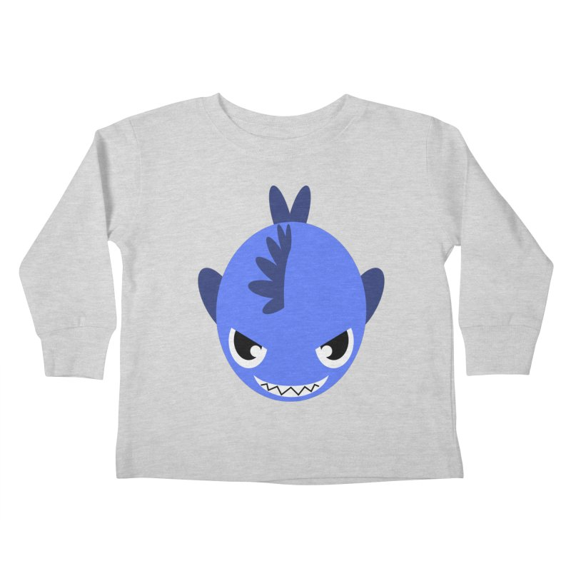 Blue piranha Kids Toddler Longsleeve T-Shirt by Kiemura Merchandise