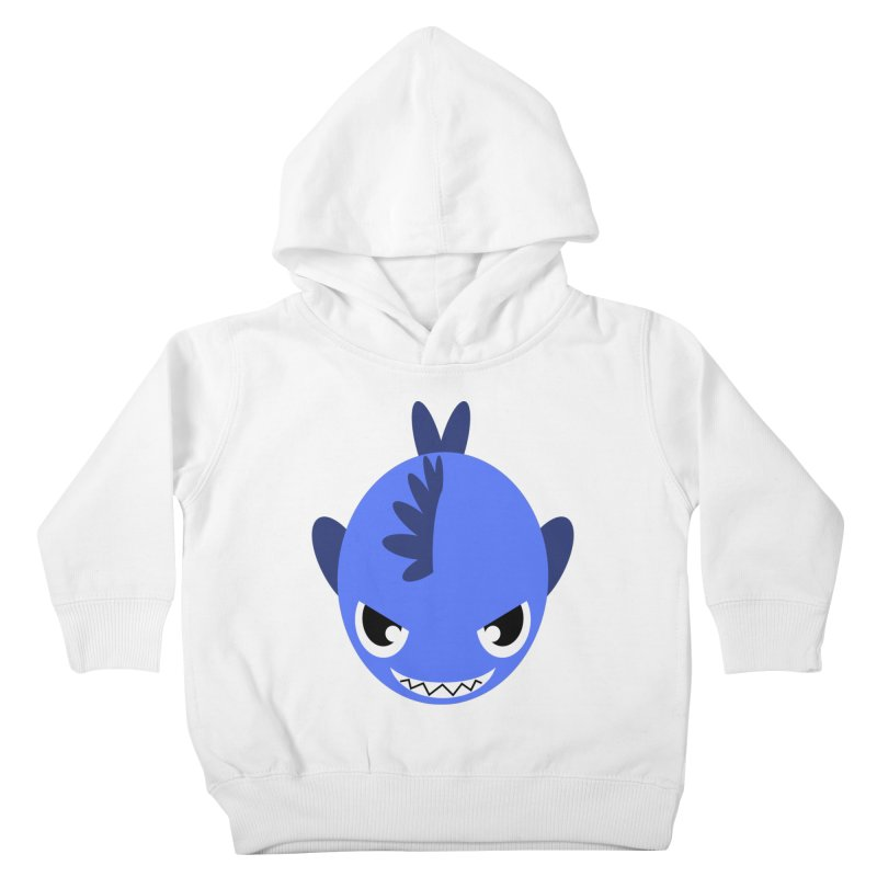 Blue piranha Kids Toddler Pullover Hoody by Kiemura Merchandise