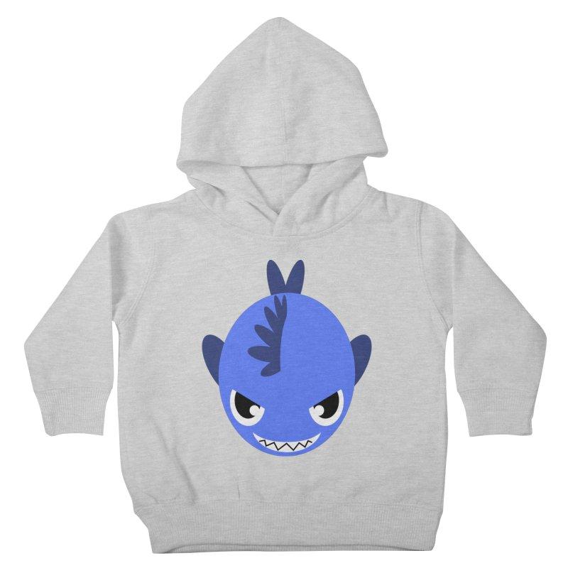 Blue piranha Kids Toddler Pullover Hoody by Kiemura Merchandise