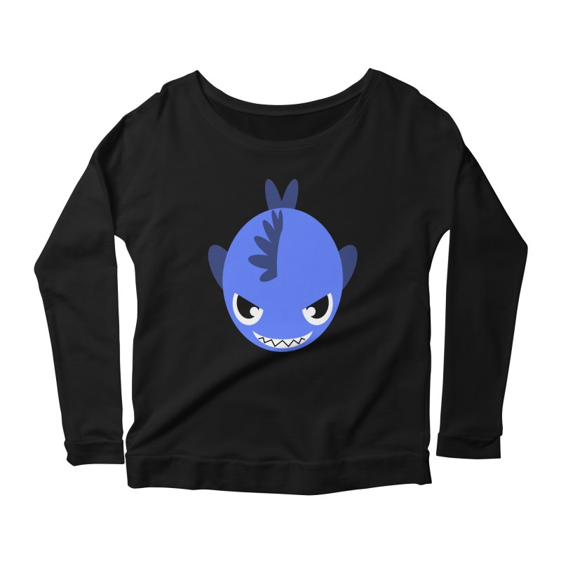 Blue piranha Women's Scoop Neck Longsleeve T-Shirt by Kiemura Merchandise
