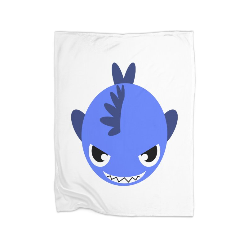 Blue piranha Home Blanket by Kiemura Merchandise